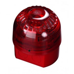 55000-017 | AlarmSense Open Area Sounder Beacon – Red