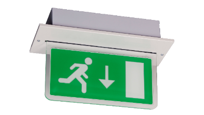 BE3FR-LED-D-W | Fully Recessed Emergency Blade Exit Sign